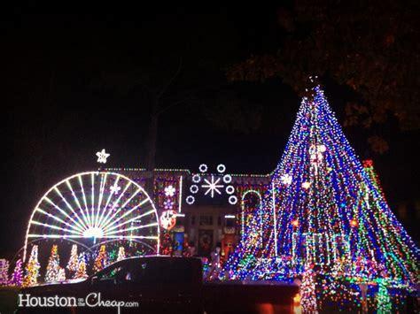 best christmas lights in houston houston on the cheap