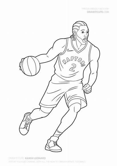 Draw Leonard Nba Kawhi Basketball Drawings Players