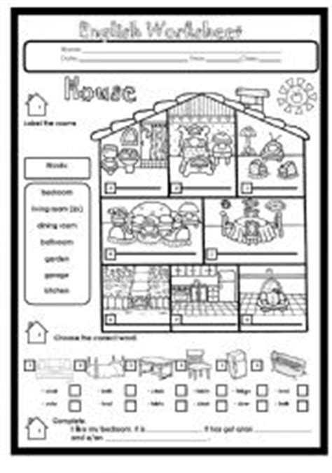 rooms   house worksheets