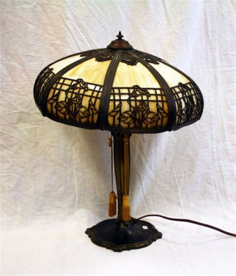 antique tiffany l shades antique tiffany style bronze slag glass shade lamp lot 275
