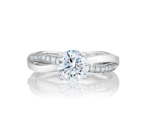 infinity platinum round cut engagement ring de beers