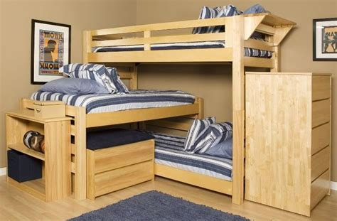 triple lindy bunk bed woodworking projects plans