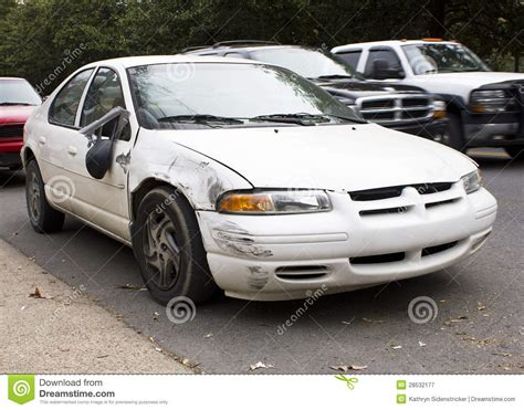 Wrecked 2000 Dodge Stratus Se Royalty Free Stock