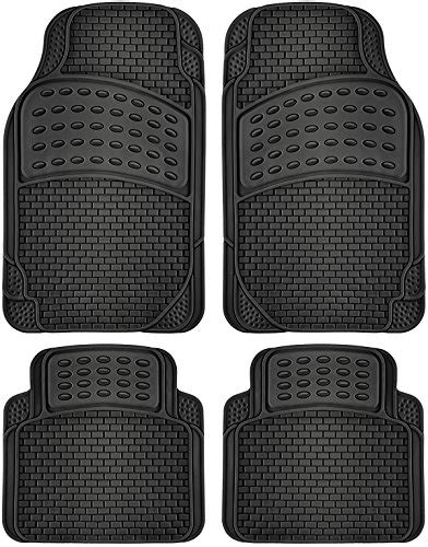 oxgord rubber floor mats 4 oxgord all weather rubber car floor mat set 8 76
