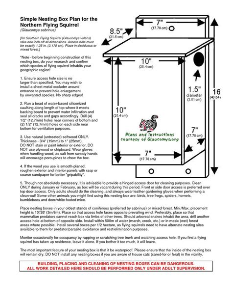 southern flying squirrel nest boxes glaucomysorg flying squirrel nesting box plan squirrels