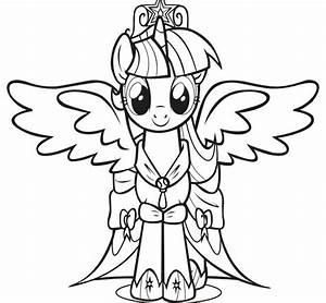 Print The Princess Twilight Sparkle Little Pony Coloring