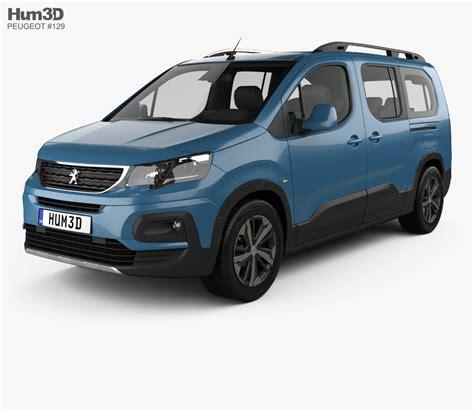 peugeot rifter dimensions peugeot rifter 2018 3d model vehicles on hum3d