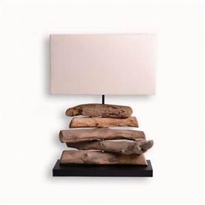 Meuble En Bois Flotté : lampe exotique ht 49 cm en bois flott pour le salon ~ Preciouscoupons.com Idées de Décoration