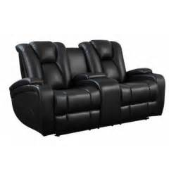 black dining room sets coaster delange faux leather power reclining loveseat in black 601742p