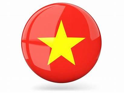 Vietnam Icon Round Flag Vlag Glossy 640