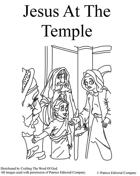 jesus at the temple coloring page 171 crafting the word of god 477 | jesus at the temple coloring page