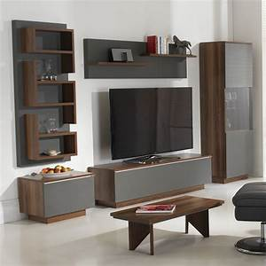 michigan living room set in walnut and grey with led With living room furniture sets michigan