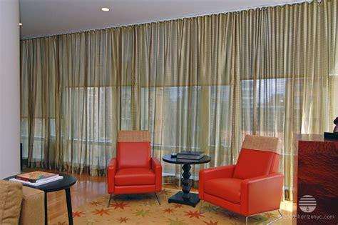 golden sheer fabric curtains dual treatment ripplefold