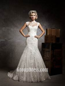 sweetheart mermaid lace and tulle vintage wedding dress With vintage lace mermaid wedding dress