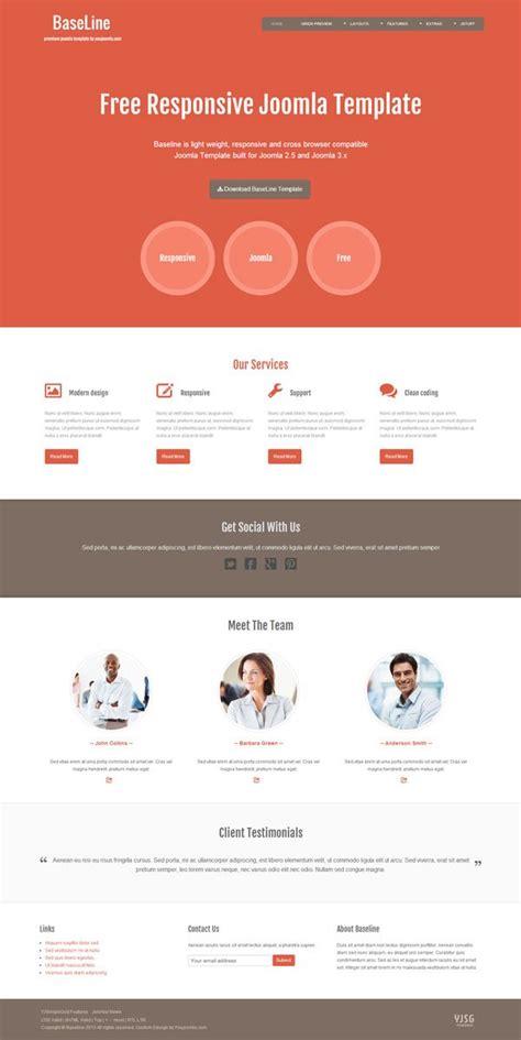 free joomla templates baseline free joomla template