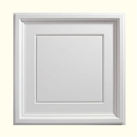 Genesis Designer Ceiling Tile by Genesis 2 Ft X 2 Ft Icon Coffer White Ceiling Tile 753