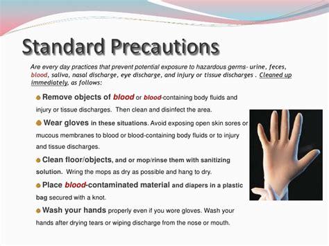 plastic drop cloth universal precautions slideshare