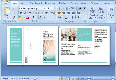 how to make a trifold pamphlet in word free brochure maker template for ms word