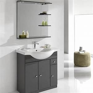 Leroy Merlin Vasque Salle De Bain : meuble vasque 85 cm gris galice leroy merlin ~ Dailycaller-alerts.com Idées de Décoration