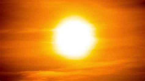 stock video   vibrant colorful bright orange sunset
