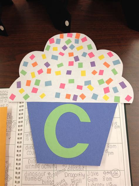 c for cupcake craft letters prek lette