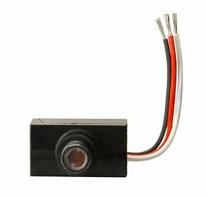 Woods 59408 Outdoor Hardwire Post Eye Light Control With Photocell  Light Sensor