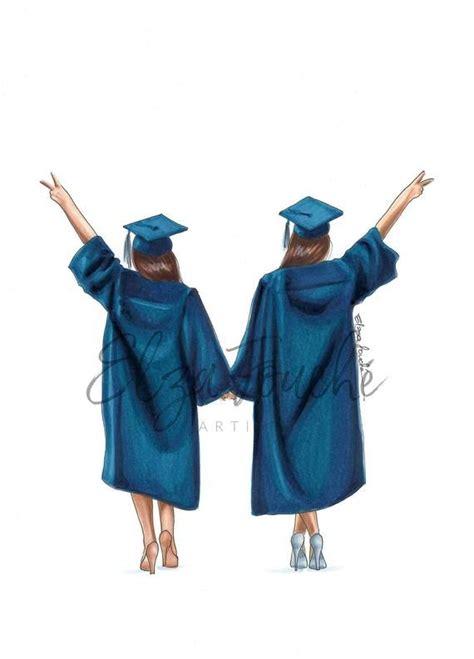 graduation gift graduation art grad print fashion illustration  friend gifts