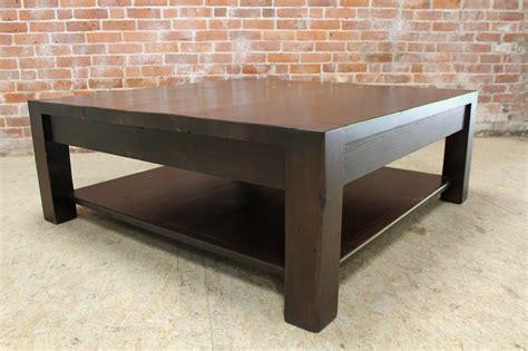 Square parsons coffee table in espresso   ECustomFinishes