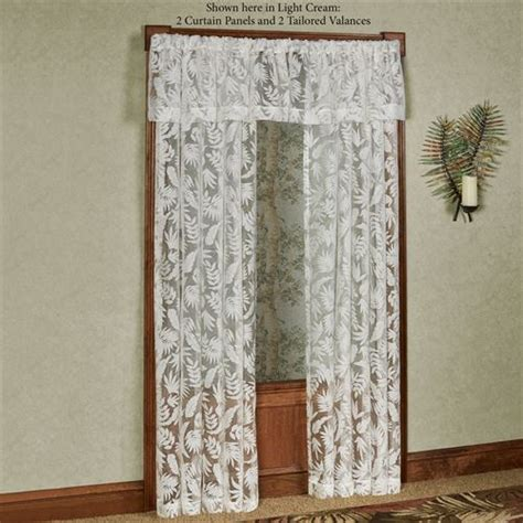 tropical frond burnout sheer tailored window treatment