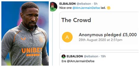 Yours Anonymously: Jermain Defoe behind the mysterious £ ...