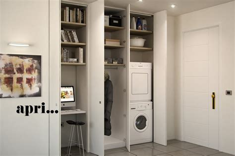 larmadio  muro  nascondere lavanderia ripostiglio