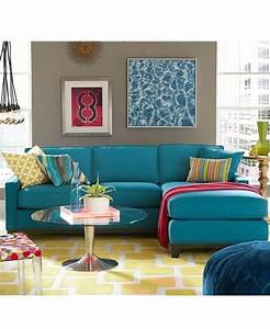 blue sectional sofa with chaise chaise design With keegan fabric sectional sofa living room furniture collection