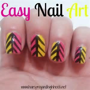 Easy tribal nail art hairspray and highheels