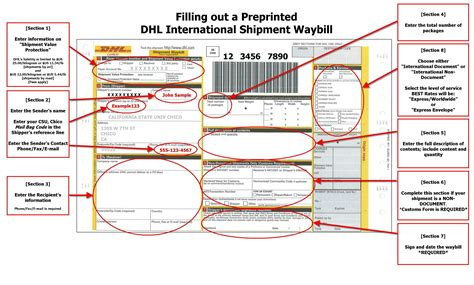 Commercial Invoice Dhl * Invoice Template Ideas