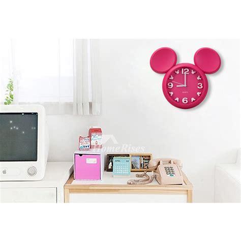 cute wall clock pinkwhiteyellowred plastic kids