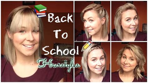 Back To School Quick And Easy Hairstyles Shoulder Length
