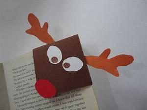 Marque Page En Papier : marque pages en coin renne de no l en papier image tutorials marque page corner bookmarks ~ Melissatoandfro.com Idées de Décoration