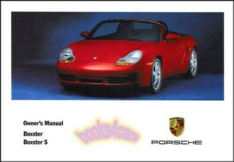 where to buy car manuals 2002 porsche boxster on board diagnostic system 2002 porsche boxster owners manual book s convertible handbook 02 guide wkd 986 ebay