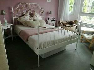 Ikea 140 Bett : ikea leirvik metall bett wei 140 x 200 cm 1 x lattenrost mittelbalken eur 25 00 picclick de ~ A.2002-acura-tl-radio.info Haus und Dekorationen