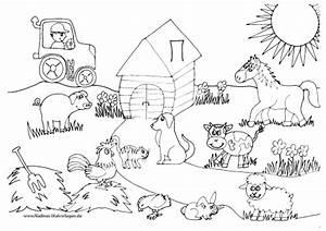 Tierfreunde Auf Bauernhof Mit Traktor Nadines Ausmalbilder