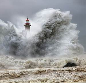 Huge Storm Waves Amost Swallow People in Portugal - My ...