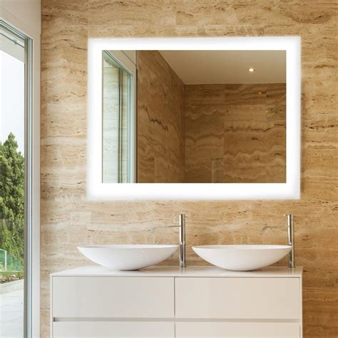 X On Bathroom Mirror by Dyconn Royal 48 In X 36 In Led Wall Mounted Backlit