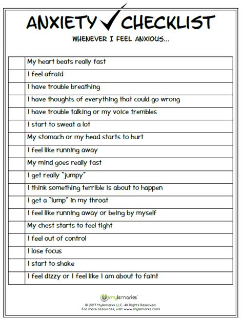 anxiety worksheets anxiety and stress worksheets
