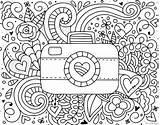 Coloring Camera Colouring Bird Printable Photographer Programs sketch template