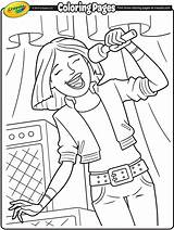 Coloring Singer Lead Rock Band Pages Crayola Colouring Designlooter sketch template
