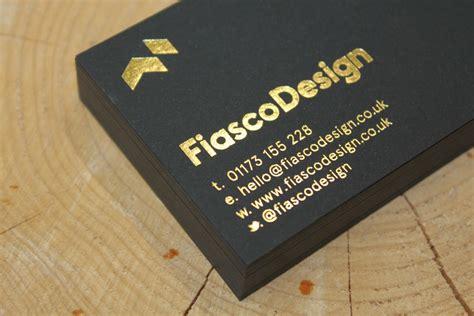 fiasco foil block business cards fiasco design