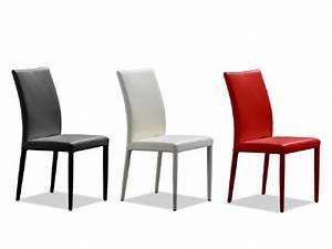 Chaise En Cuir Noir : lot de 2 chaises en cuir de vachette atalante 3 coloris ~ Teatrodelosmanantiales.com Idées de Décoration