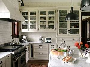 glass kitchen cabinet doors pictures ideas from hgtv hgtv With kitchen colors with white cabinets with custom wall art decals