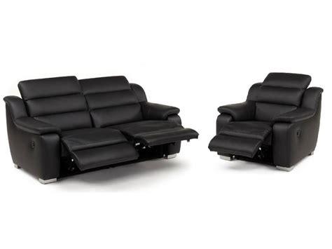 canapé et fauteuil relax électrique cuir arena