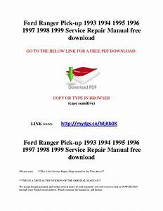 1993 Ford Ranger Repair Manual Pdf